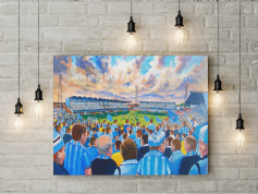 highfield road on matchday canvas a3 size